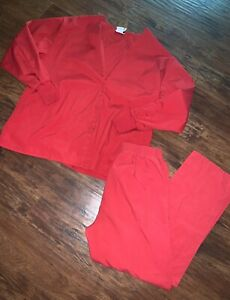 Scrubs Lot Red Top Size L amp; Pants M Lydia#x27;s Pro Series