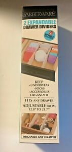 Farberware 2 Expandable Drawer Dividers DIY Storage Organizer NEW $15.99