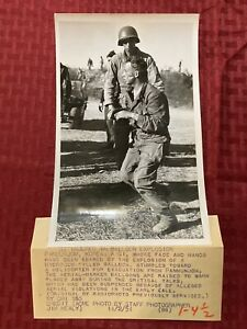 "Original Acme News Photo Korea ""GI Injured In Balloon Explosion"" 1951"
