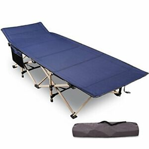 Folding Camping Cots for Adults Heavy Duty 28quot; 33quot; Extra Wide Sturdy Portabl