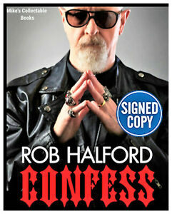 ✎✎SIGNED✎✎Confess: The Autobiography AUTOGRAPHED Book Rob Halford NEW COA $51.97