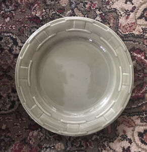 longaberger pottery woven traditions sage luncheon plate Excellent $22.00
