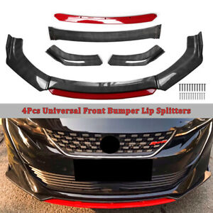 Carbon Fiber Universal Car Front Chin Bumper Lip Spoiler Splitter Scratch Guard $69.34