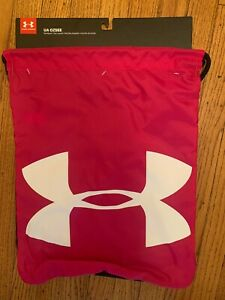 Pink amp; Black Under Armour Ozsee Sackpack UA Drawstring *New With Tags* $8.98