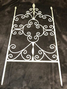 SCROLLED WROUGHT IRON VICTORIAN GARDEN FENCE PANEL OR Wall Decor $49.99