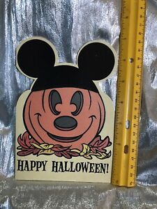 Hallmark Happy Halloween Card W Env. Mickey Mouse. Pumpkin Cute Fun Kids Card $2.95