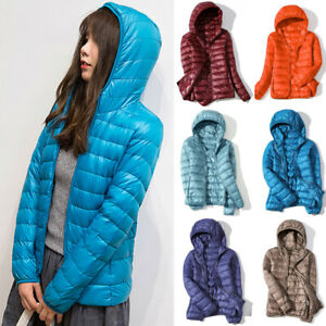 Womens Under Hoodie Jacket Winter Thick Hoodie Warm Puffer Overcoat M 5XL $18.33