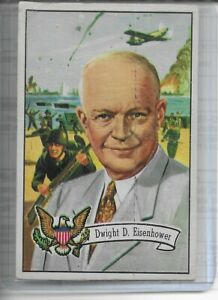 1956 Topps U.S. Presidents DWIGHT D EISENHOWER # 36 VG See Pic