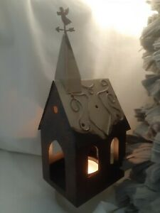 Rustic Metal Church Cathedral Angel Candle Holder $9.99