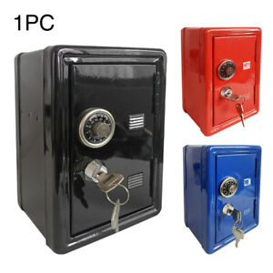 Safe Money Box Bank Metal 2Keys With Combination Lock Coins Cash Security Box $31.99