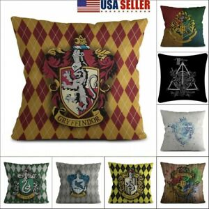 Harry Potter Cushions Cover Throw Pillow Cases Sofa Home Office Decoration Xmas $7.65
