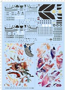 pre order 1 72 Decals Macross VF 1A VF 31A SV 262Hs for model kits 65766 $22.99