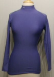 Womens Under Armour Cold Gear Mock Shirt Fitted Purple Small EUC $22.99