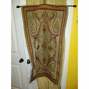 Indian tapestry green red orange $25.99