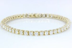 5 CT DIAMOND TENNIS BRACELET 14K GOLD