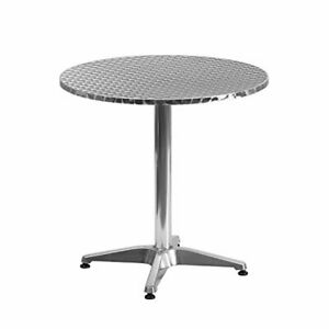 Flash Furniture Round Aluminum Indoor Outdoor Table with Base $66.65