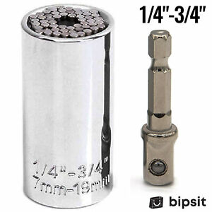 Universal Socket Drill Adapter Magical Multi Tool Alligator Grip Wrench $7.98
