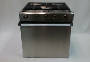 "Dometic 21"" 3 Burner Range RV 2 in 1 Stove Furrion Suburban Greystone"