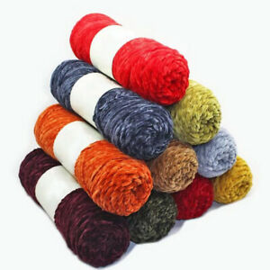 100g Soft Chenille Wool Yarn Cashmere DIY Knitting Crochet Woven Thread Yarns $4.29