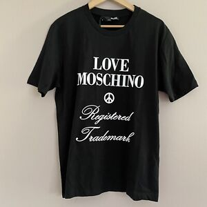 Authentic Mens Love Moschino Registered Trademark Crew Neck Mens Small $45.75