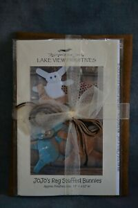 WOOL KIT HAND DYED WOOL and PATTERN with FLOSS RAG STUFFED BUNNY FAT QTR $20.00