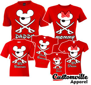 🔥 Mickey Pirate Family Matching T shirts Mommy daddy cruise disney Vacation tee
