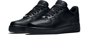 NIKE AIR FORCE 1 07 TRIPLE BLACK 315122 001 Mens sizes 4Y 14 *BRAND NEW IN BOX $114.95