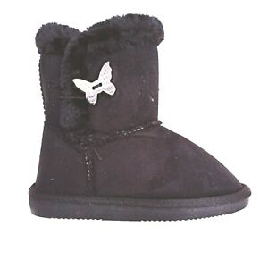 Big Kids Girls Warm Lined Boots Faux Fur Suede GOOD QUALITY Size 10 4 NEW