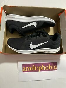 New Womens Size 12 Black White Nike Downshifter 8 Running Shoes $49.94