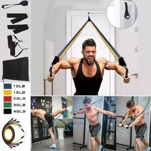 11Pcs Resistance Bands For Home Workout Exercise Yoga Crossfit Fitness Training $14.99
