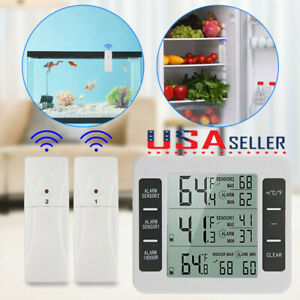 Digital Refrigerator Freezer Thermometer Alarm Wireless High Low Temperature US $19.38