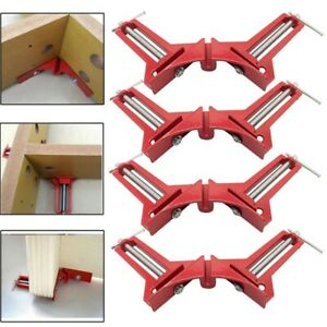 Corner Picture Clamp Frame Angle Right Clamps Woodworking Clip 90 Degree Quick $9.99