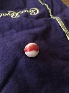 """Vtg Antique Marble 1 2"""" American Agate Transition Red White $29.99"""
