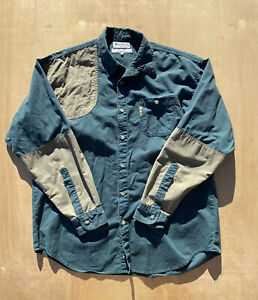 Forrest Green Columbia Hunting Shirt W Patches Size XL Excellent Condition
