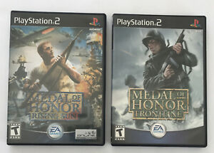 Lot Of 2 Metal Of Honor Playstation 2 Games Rising Son amp; Frontline Complete $11.99