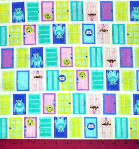 Monsters Inc Fabric HALF YARD 100% Cotton Sewing Quilting Sulley Mike Boo $10.98