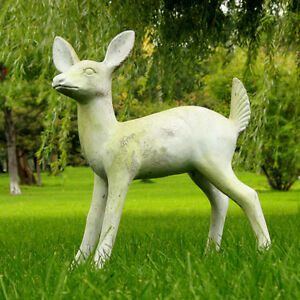 Adorable Deer Fawn Garden Statue Sculpture Handcrafted USA 12quot;W 19quot;D 23quot;H $119.95
