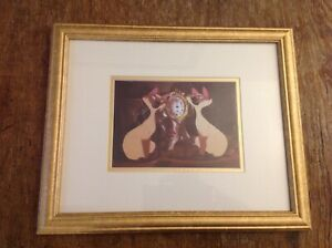 Disney Lithograph Print Lady and the Tramp Framed Siamese Cats $55.00