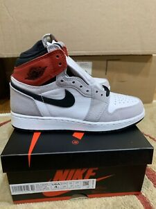 AIR JORDAN 1 GS HIGH OG LIGHT SMOKE GREY IN HAND SIZE 4Y 575441 126 *Authentic*