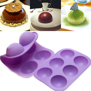 ONE 6 Hole Semi Sphere Round Silicone Mold Hot Chocolate Bombs Cake Baking Mould $9.49