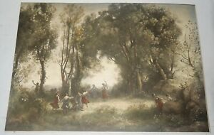27quot;x19quot; Original Lithograph Dance of the Nymphs Reinthal amp; Newman NY Signed $45.00