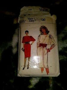 8734 Very Easy Vogue Misses Sewing Simple Loose Fit Dress Pattern Size 8 10 12 $8.00