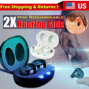 US Invisible Mini In Ear Digital Hearing Aids Sound Voice Amplifier Enhancer Ear $47.99