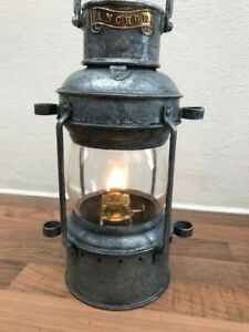 Antique Ships Anchor Light. marine lantern. brass amp; galv steel Yacht Boat Marine GBP 159.00