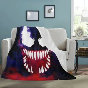 Cool venom Movie All 3D Print fleece Premi Blanket Sofa Couch Quilt Cover Throw $49.99