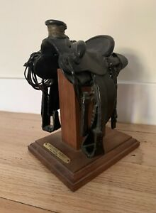 FRED FELLOWS Cowboy Artist Original Signed and Numbered Bronze Western SADDLE $750.00