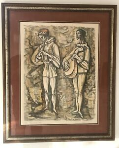 Irving Amen Troubadours Lithograph Hand Pencil Signed Limited Edition 271 275 $191.00