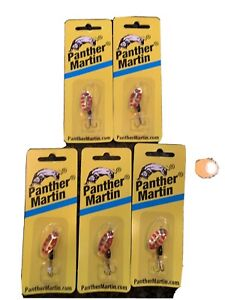 Panther Martin 2PMRSAL G Classic Patterns In Line Spinner #2 1 16 Lot Of 5