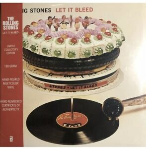 *RARE* THE ROLLING STONES RSD LET IT BLEED LP # 900 HAND POURED COLOR VINYL NEW $499.99
