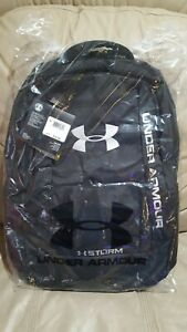Under Armour Team Hustle II Storm Backpack Black Brand New Plastic Packaged NWT $36.99
